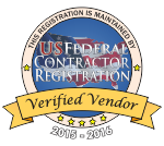 US Federal Contractor Registration System for Award Management Verified Vendor Seal